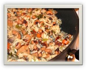 Black Eyed Peas with Rice Turkey Kielbasa