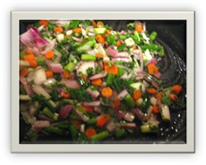 Sofrito for Black Eyed Peas recipe