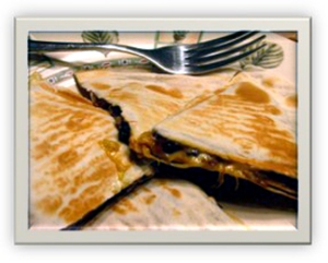 Caramelized Onion Baby Bella Quesadillas 4