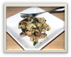 Chicken, Spinach, Mushroom Pasta Bake 1