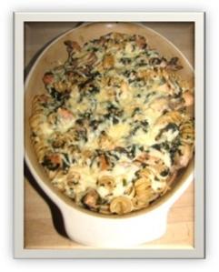 Chicken, Spinach, Mushroom Pasta Bake 2