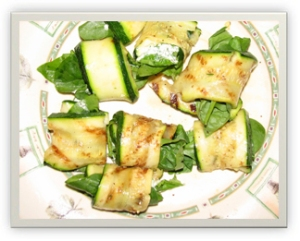 Grilled Zucchini Goat Cheese Roll Ups