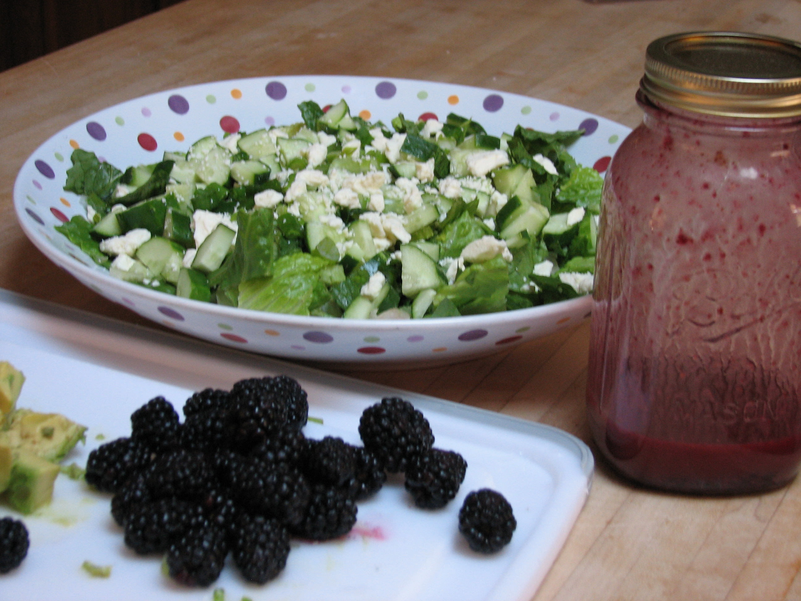 Green Salad with Blackberry Dressing | Simply Healthy Cooking