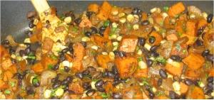 Black Bean and Sweet Potato Hash