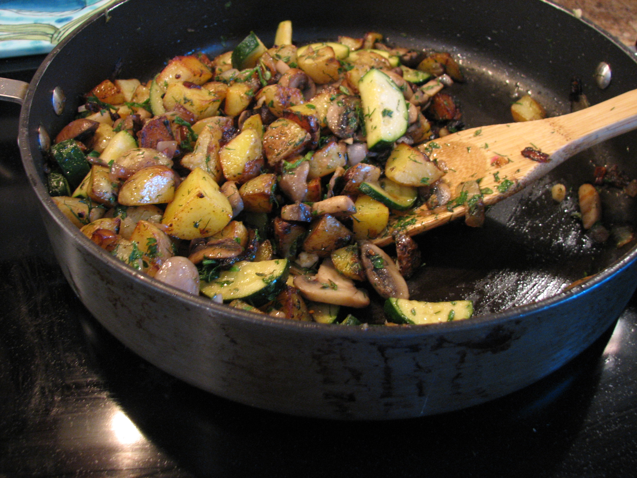 How to cook mushrooms with zucchini 90